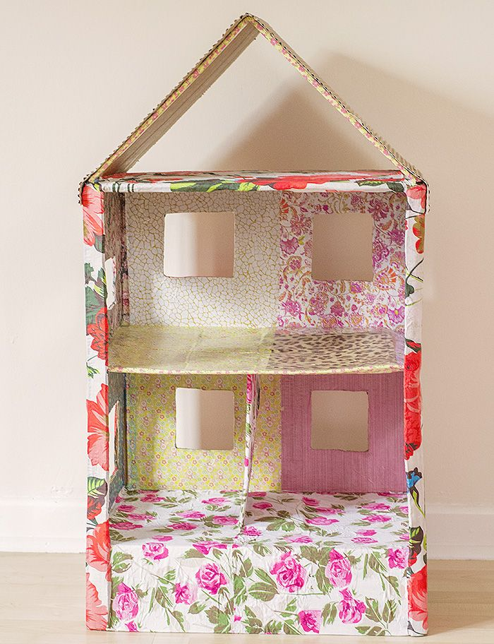 Shoe Box Dollhouse Craft For Kids: How To Make A Dolls House Out Of A Cardboard Box