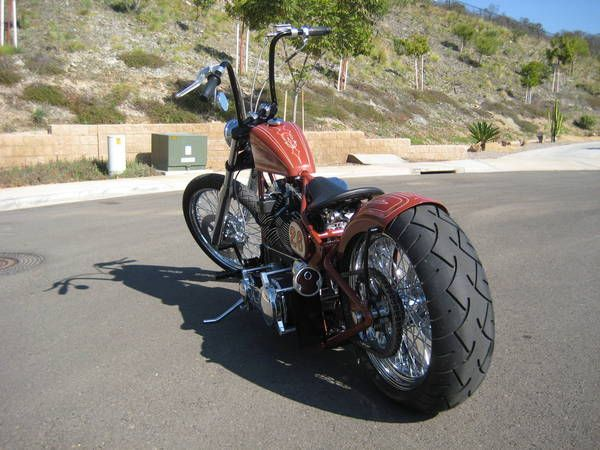 DNA softail frame with Ultima 120ci and 200 rear tire - Club Chopper ...