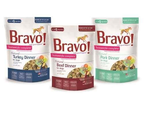 Bravo Homestyle Complete Beef Dinner Freeze Dried Dog Food 2 Lb