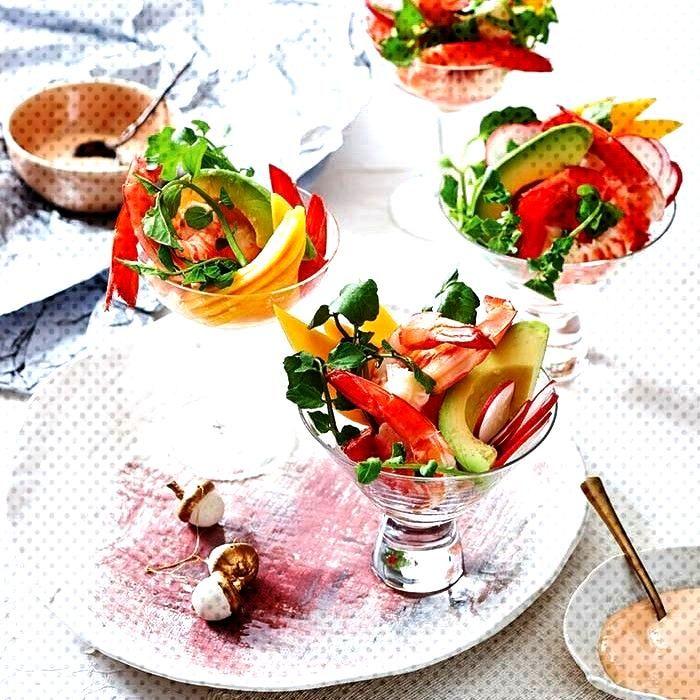 Cocktail di gamberi e avocado -Cocktail di gamberi e avocado -Cocktail di gamberi e avocado -