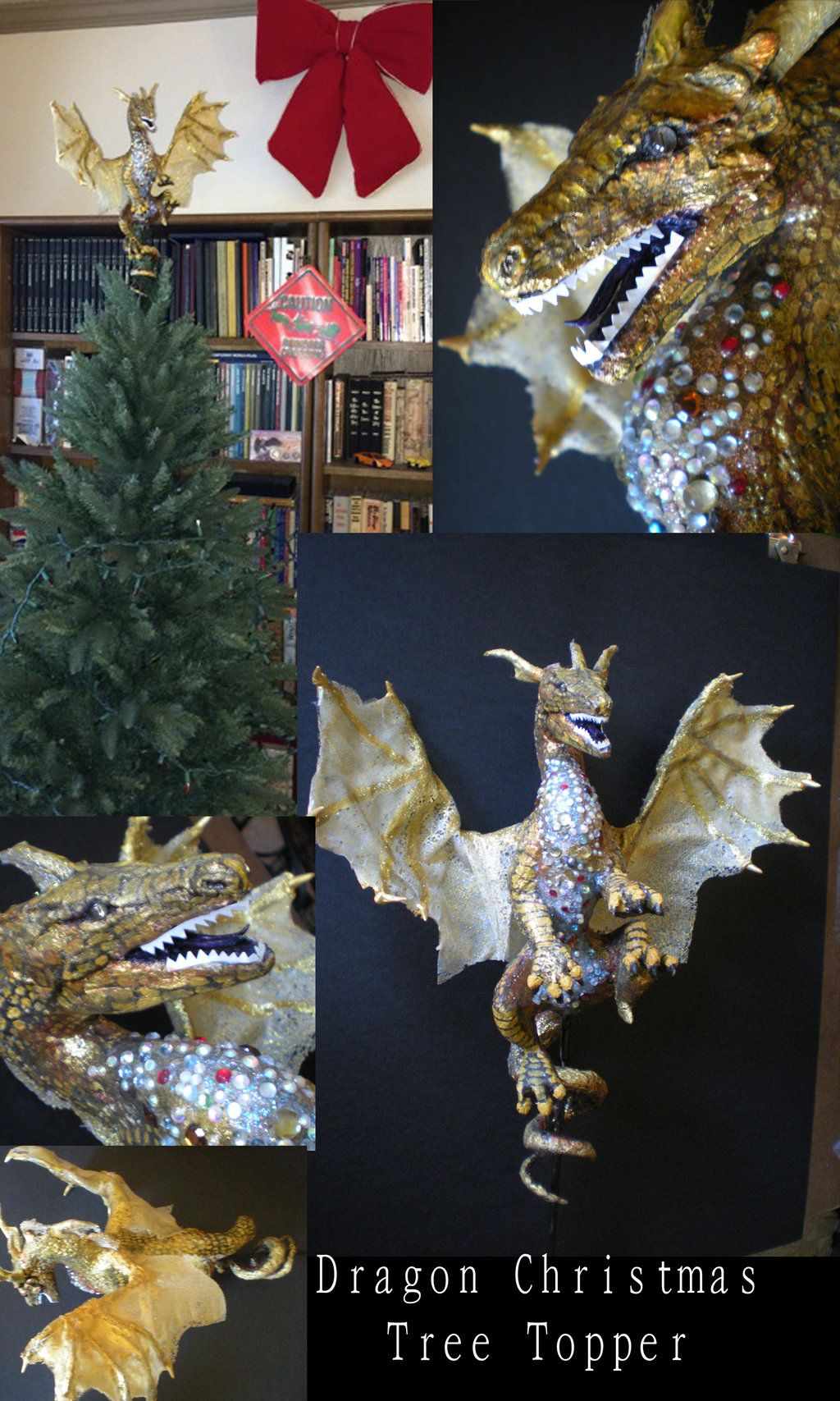 Dragon Christmas tree topper by Shadowinddeviantartcom on