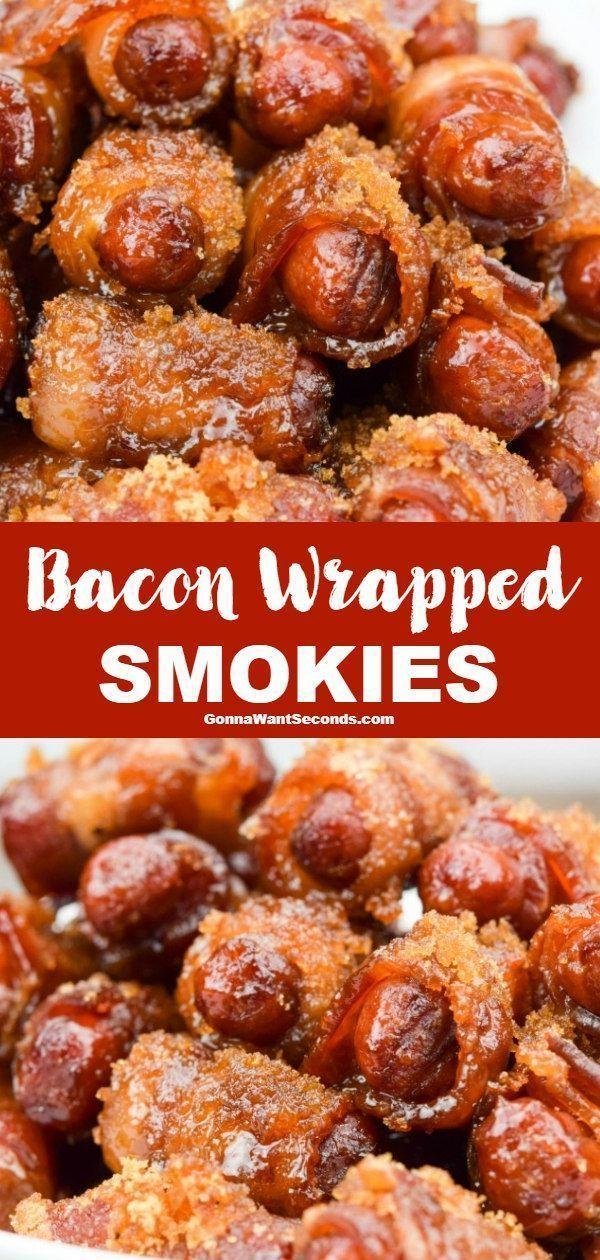 Bacon Wrapped Smokies -