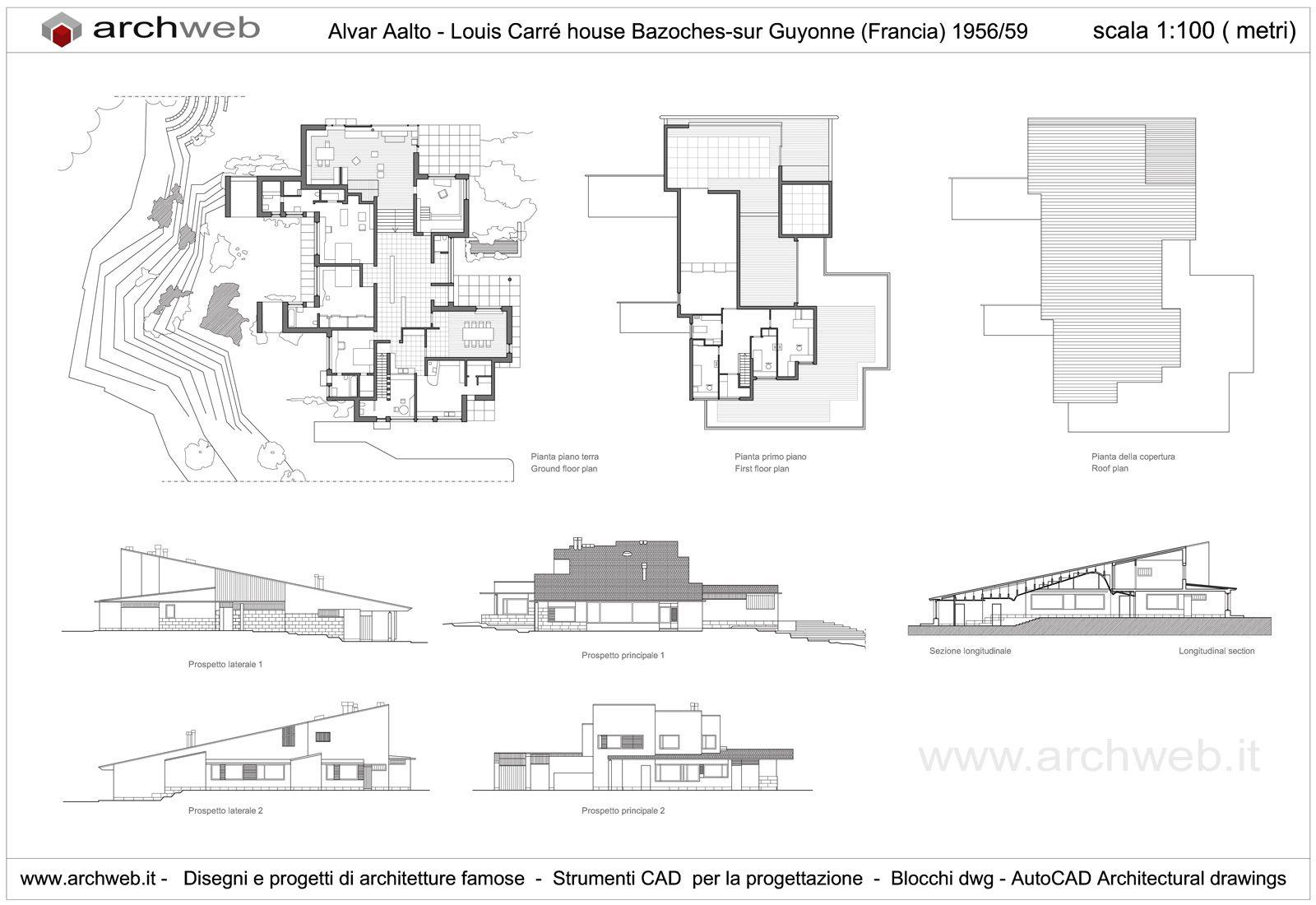 Great 2D : Maison Louis Carré, Bazoches Sur Guyonne France (1956 1959  Construction) | Alvar Aalto | хлам | Pinterest | Alvar Aalto And  Architecture
