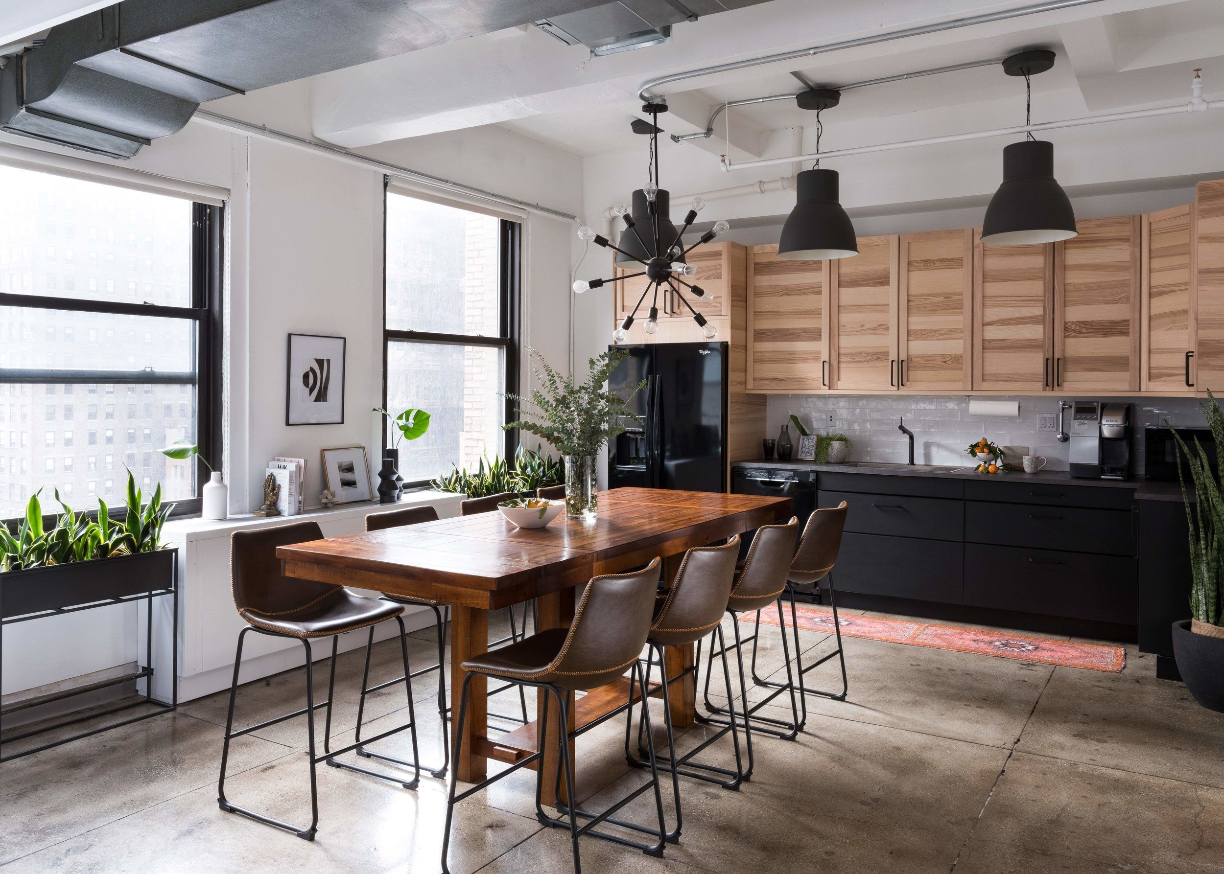 industrial office interior design with ikea kitchen by Lorla