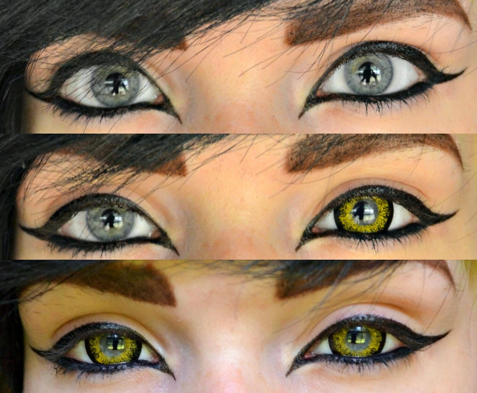 Very vibrant gold contact lenses. Beuberry CH gold (http://www ...