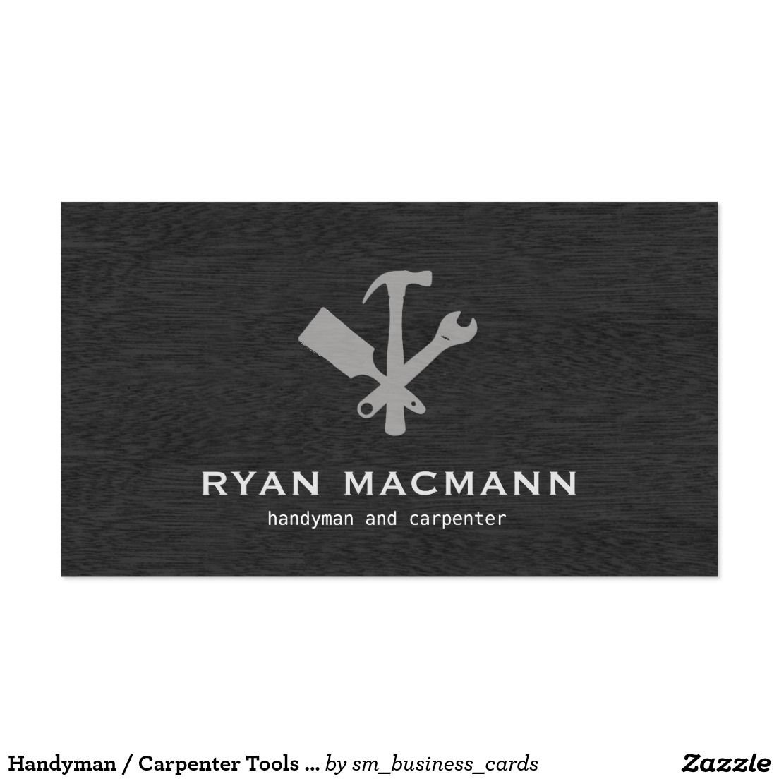 Handyman carpenter tools home improvement business card handyman carpenter tools home improvement business card reheart Image collections