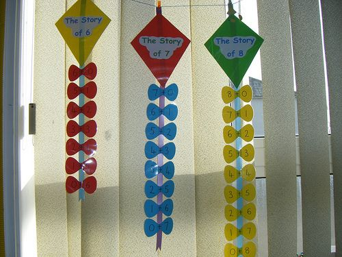 Number bond kites by Sunflower Lily, via Flickr