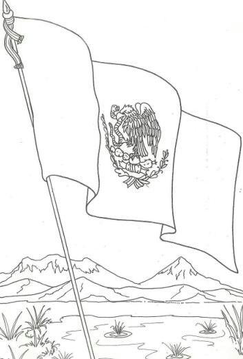 24 De Febrero Dia De La Bandera Mexicana Bandera De Mexico Dibujo Dia De La Bandera Bandera Dibujo