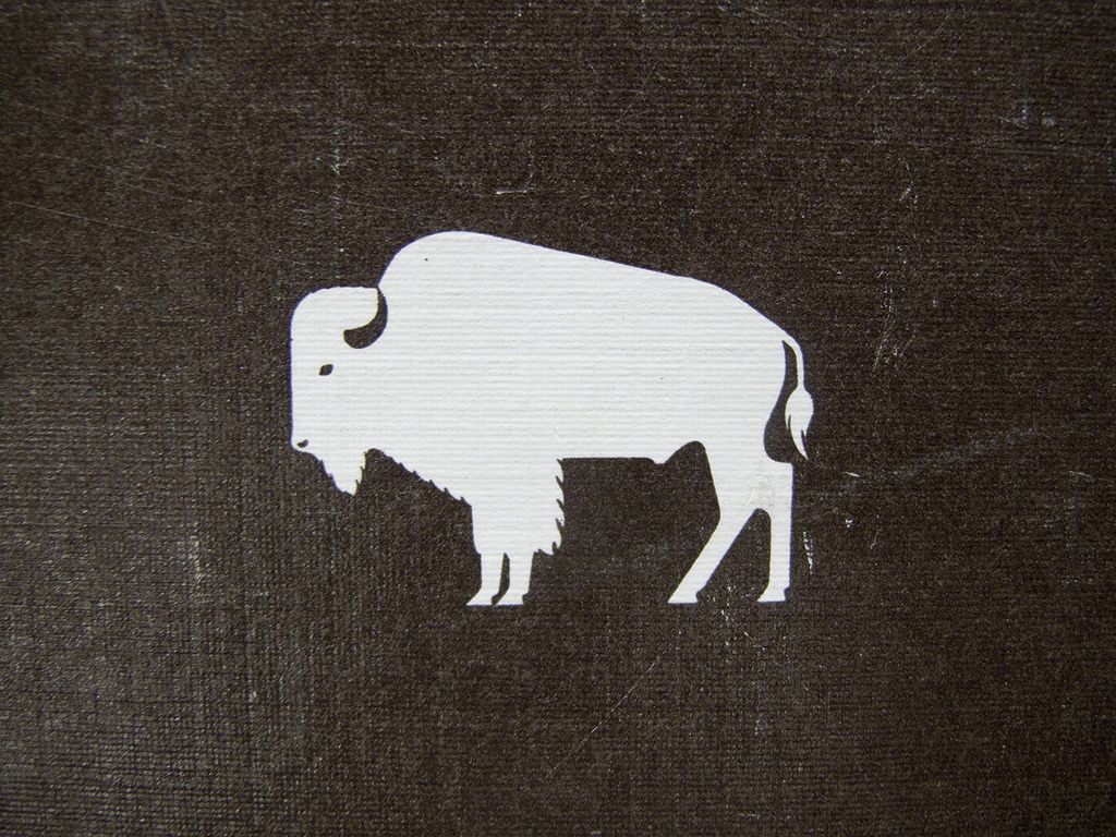 Bison  | draw | Bison logo, Buffalo tattoo, Buffalo logo
