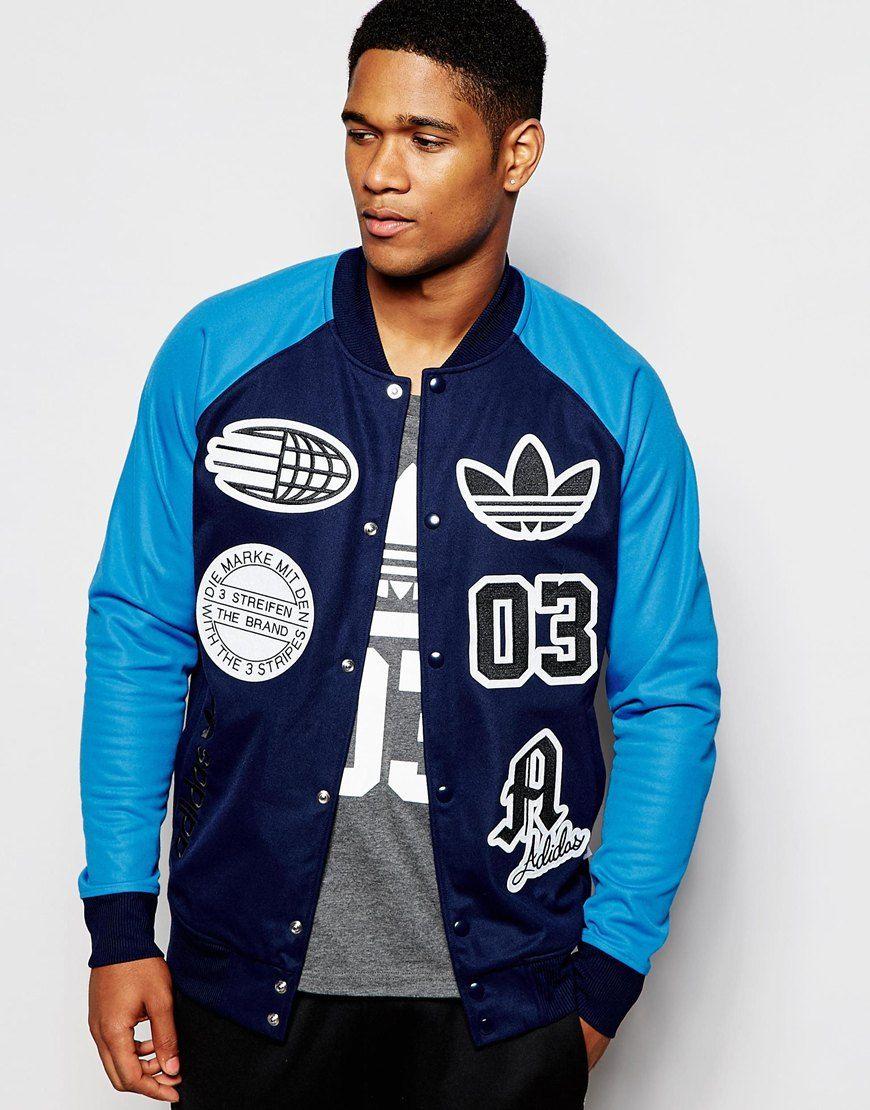 adidas Originals Logo Stadium Top Mens jackets casual