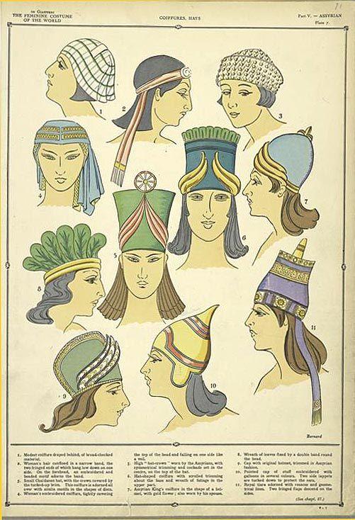 Coiffures, hats #historyoftheworld