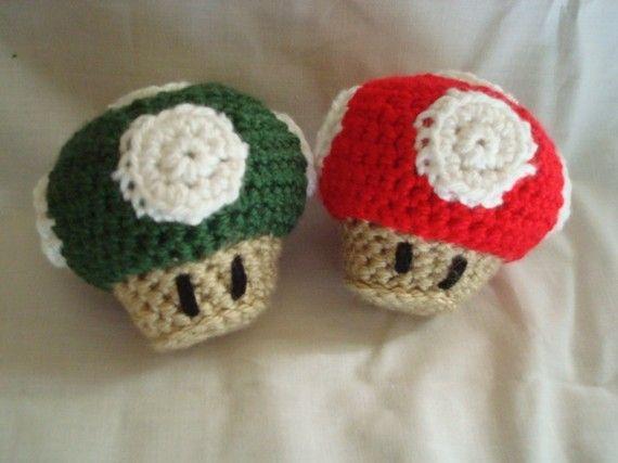 Mario Mushroom Crochet Pattern Mushrooms Pinterest Crochet