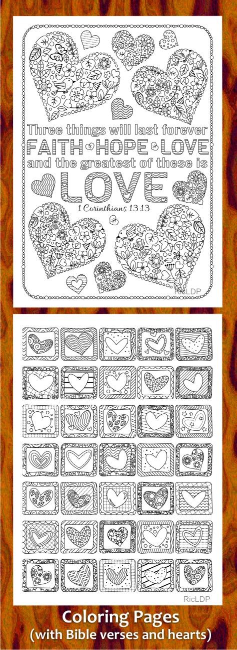 Coloring Pages with Bible Verses and Hearts #love #biblecoloring - best of valentines coloring pages pdf
