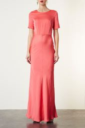 topshop fitted pink dress