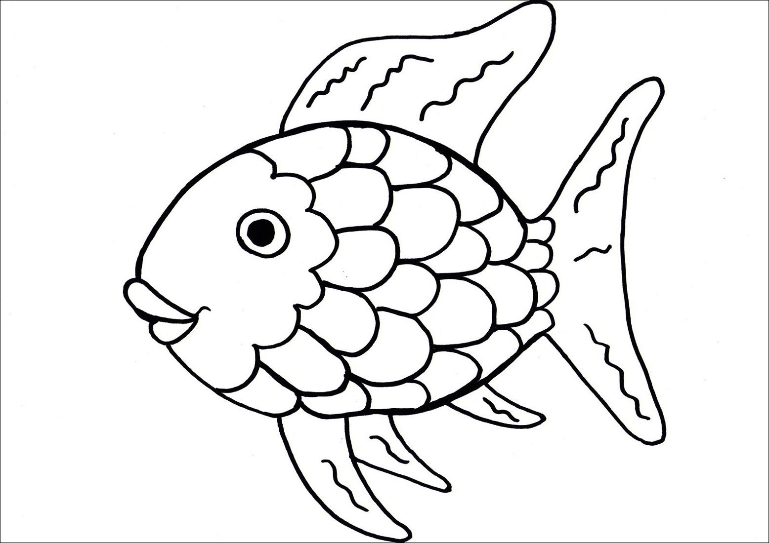Printable Coloring Pages For Toddlers Fish Learning Printable Rainbow Fish Coloring Page Fish Coloring Page Rainbow Fish Template