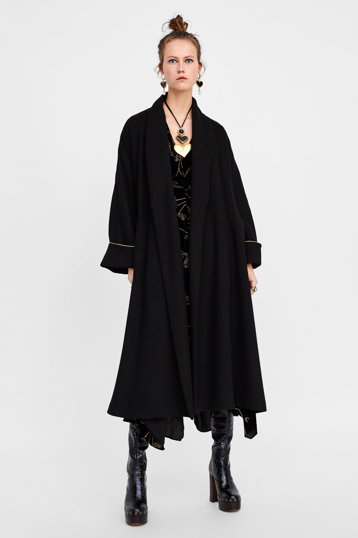 purchase cheap e9573 435ce ABRIGO LARGO   mote, bunad, uniformer   Langer mantel, Zara ...