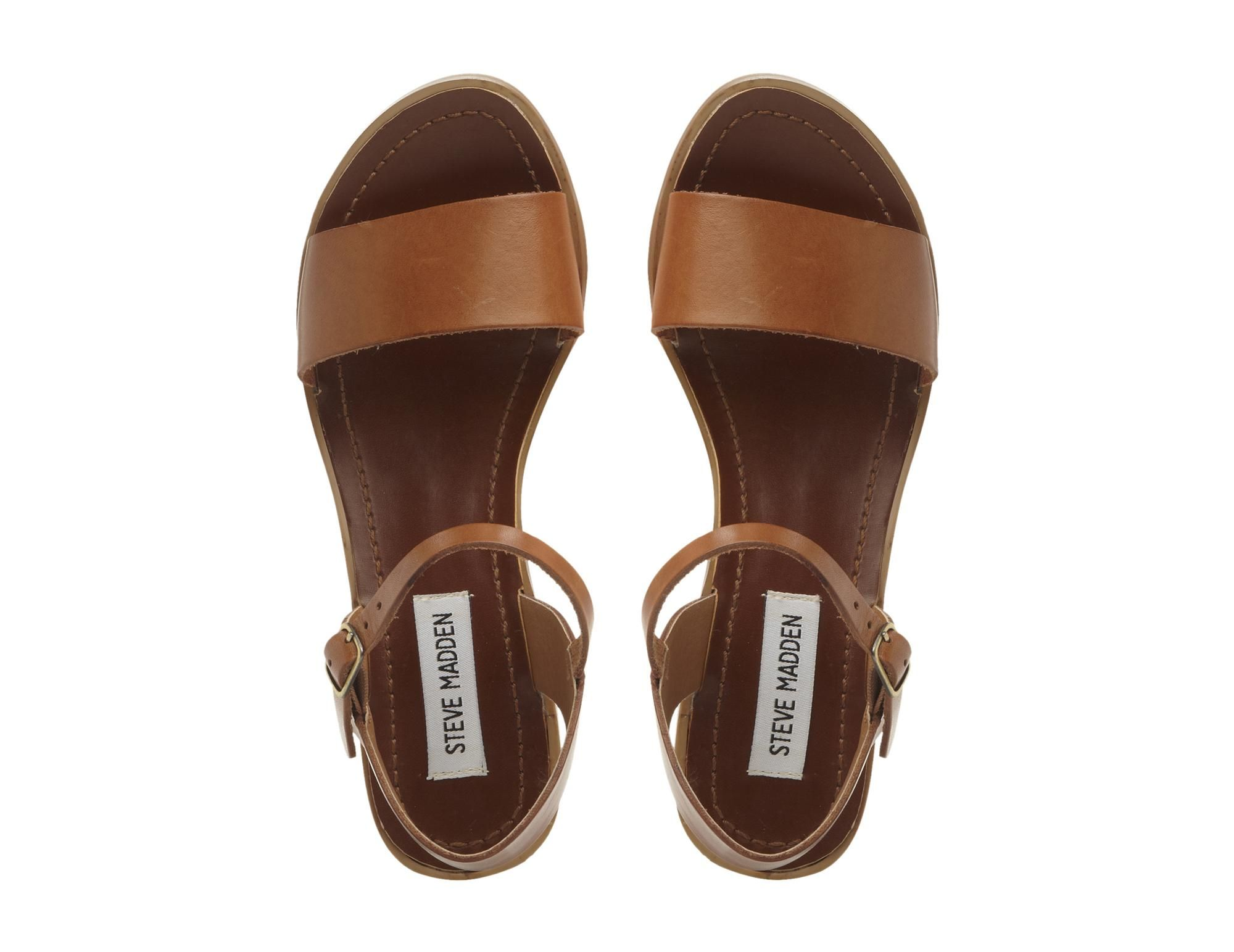 STEVE MADDEN DENSE SM - Low Block Heel Sandal - tan | Dune Shoes Online