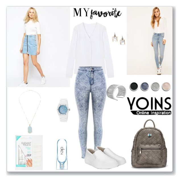 """Yoins White Loafers"" by ludmyla-stoyan ❤ liked on Polyvore featuring Good Vibes, Bad Daze, Cheap Monday, Terre Mère, Swiss Legend, Calvin Klein and Elegant Touch"
