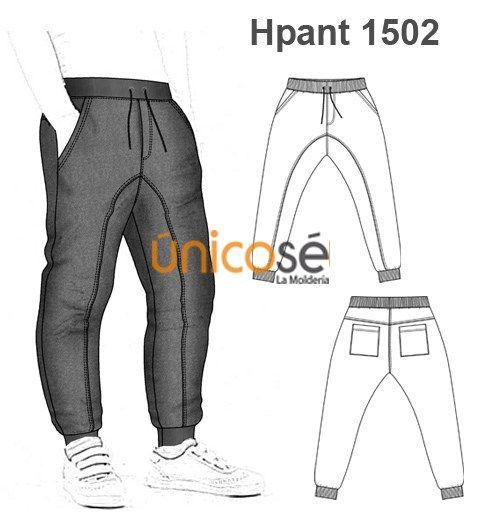 d694be027 PANTALON SPORT HOMBRE | SEWing MAN | Ropa, Moldes de pantalones y ...