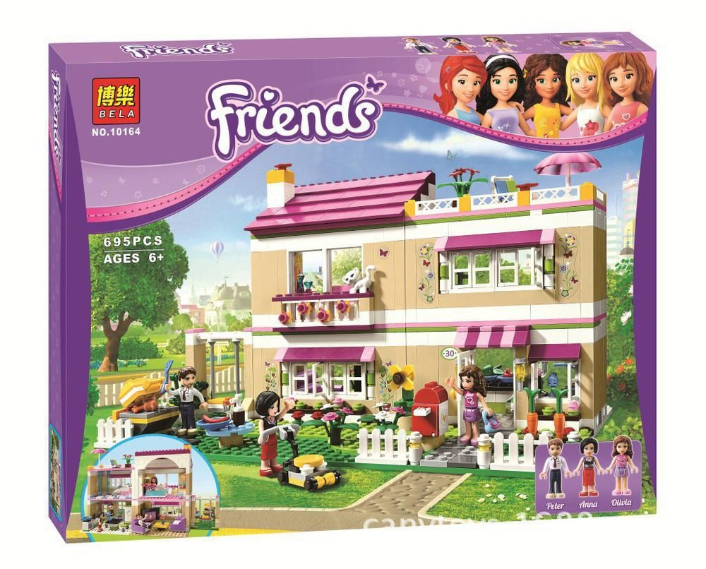 Model Building Kit Compatible With Lego City Girl Friend Olivia S