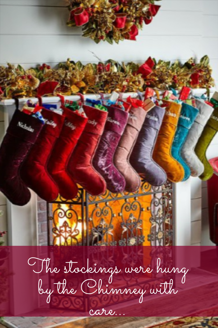 Stockings!!!! Stockings are my favorite part of Christmas morning. And these colors are fun. #ad