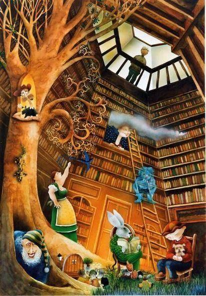 Hay bibliotecas maravillosas! Descúbrelas (ilustración de José Luis Lillo)