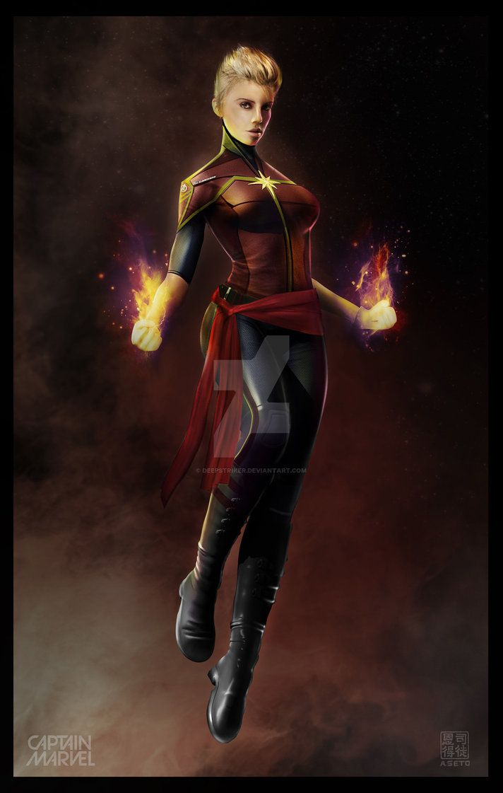 another go at a mcu captain marvel design, this time with charlize