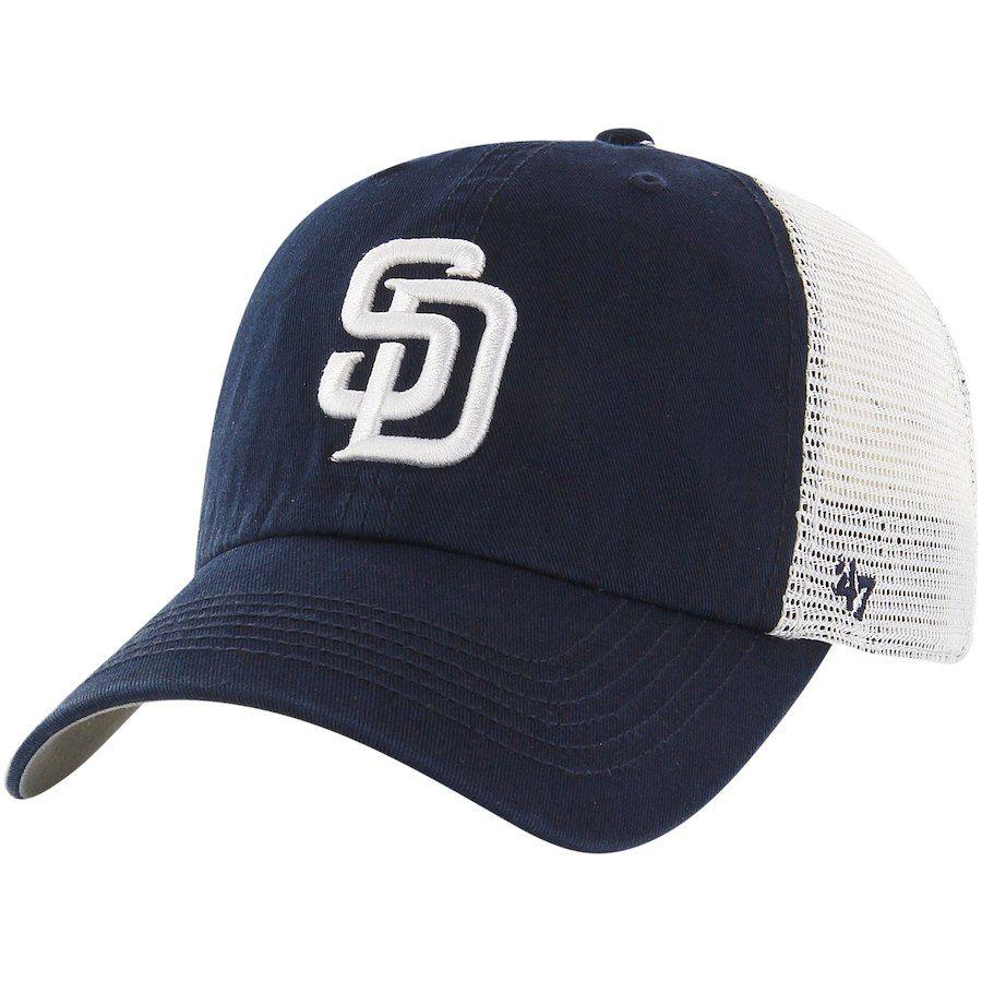 sale retailer 4da4d 1018f Men s San Diego Padres  47 Navy White Blue Hill Closer Flex Hat, Your  Price   29.99