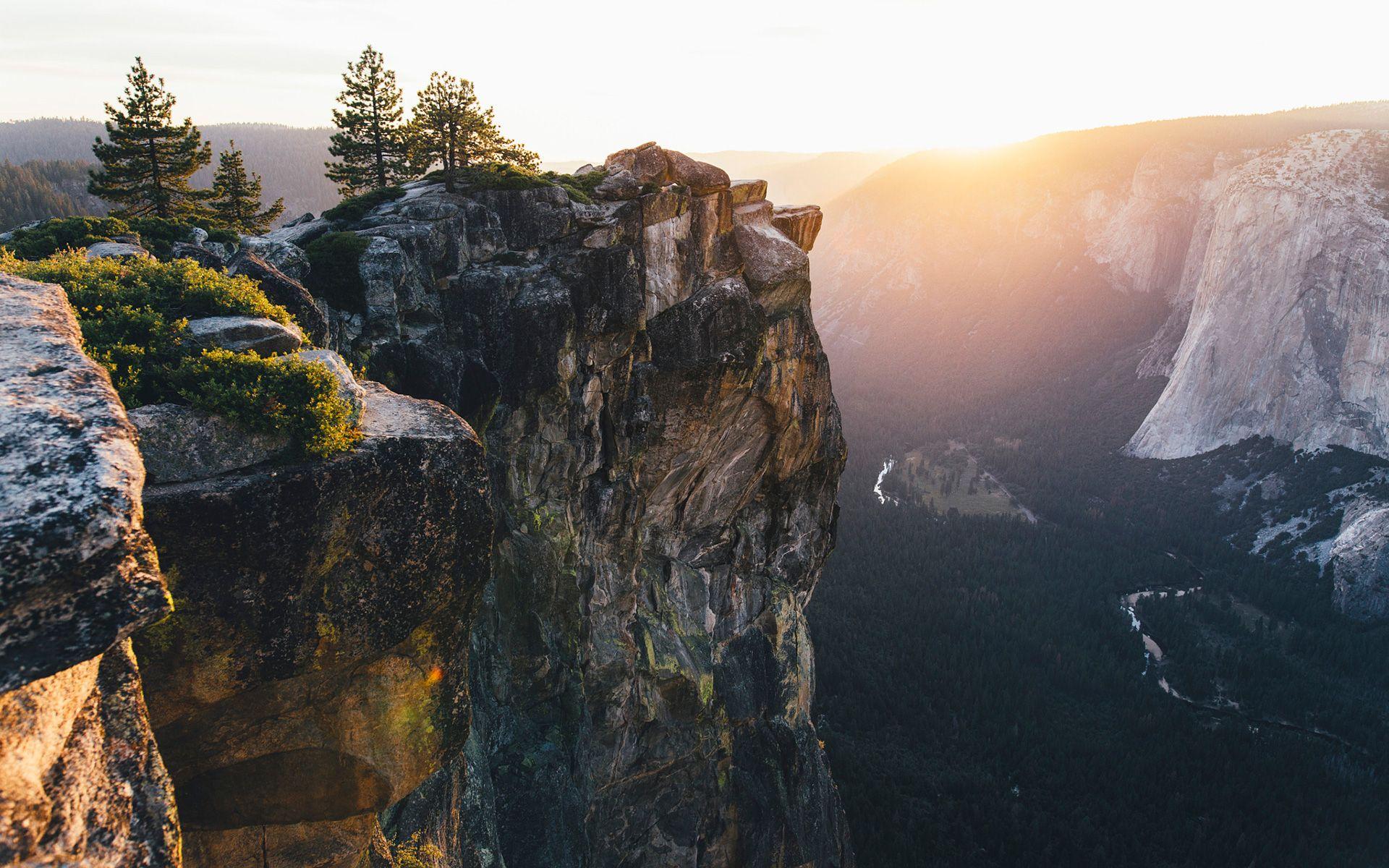 Yosemite Cliff Edge HD Wallpaper From Gallsource com | HD