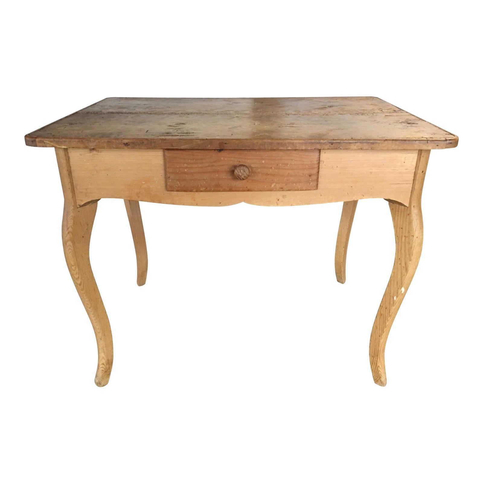 farmhouse writing desk with turned legs