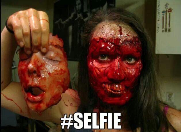 Creepy #selfie