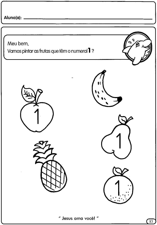 Amado Atividades com numerais de 1 a 5 para a Educação Infantil  VI03