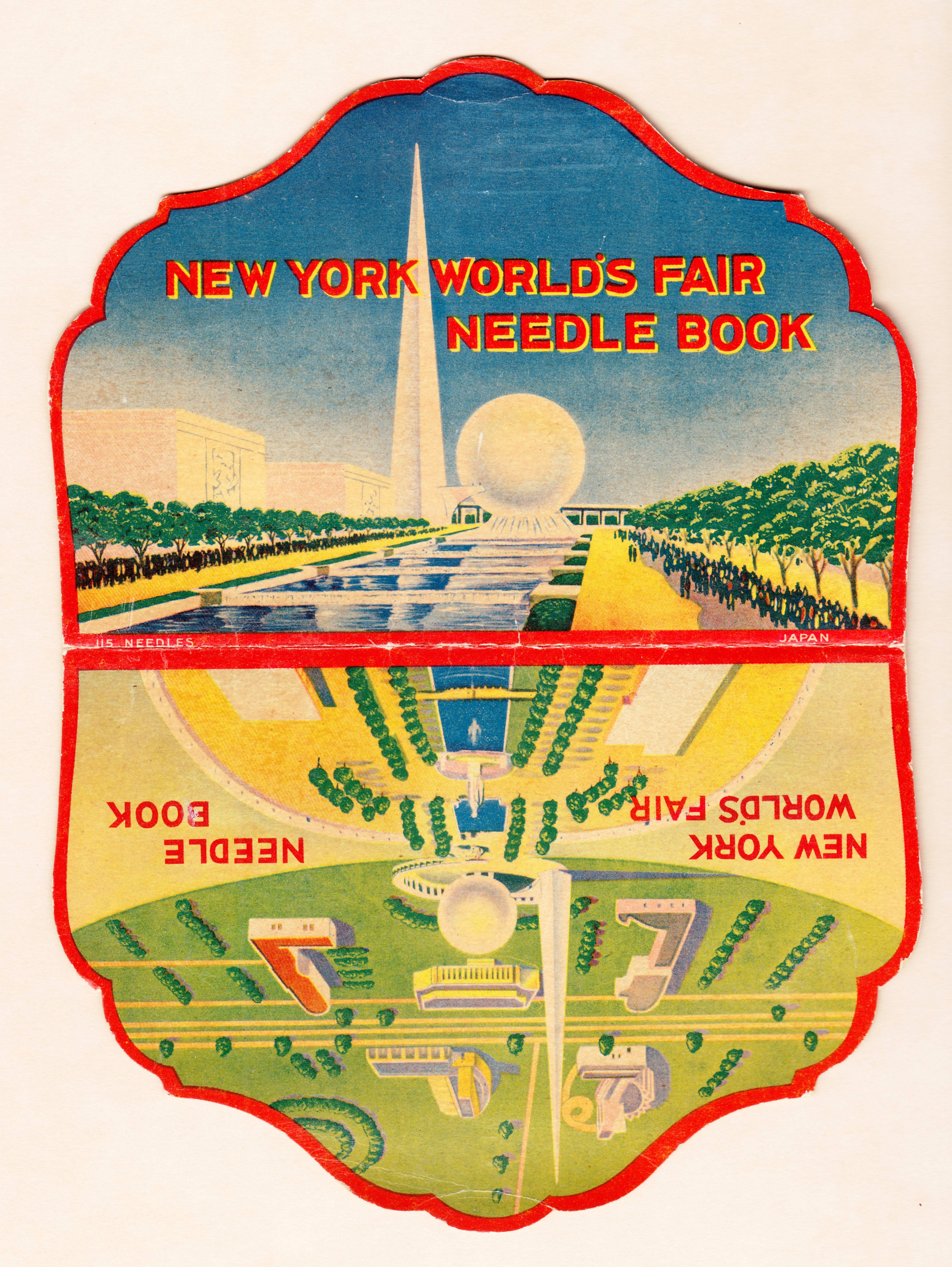 1939 New York World's Fair Needle Book