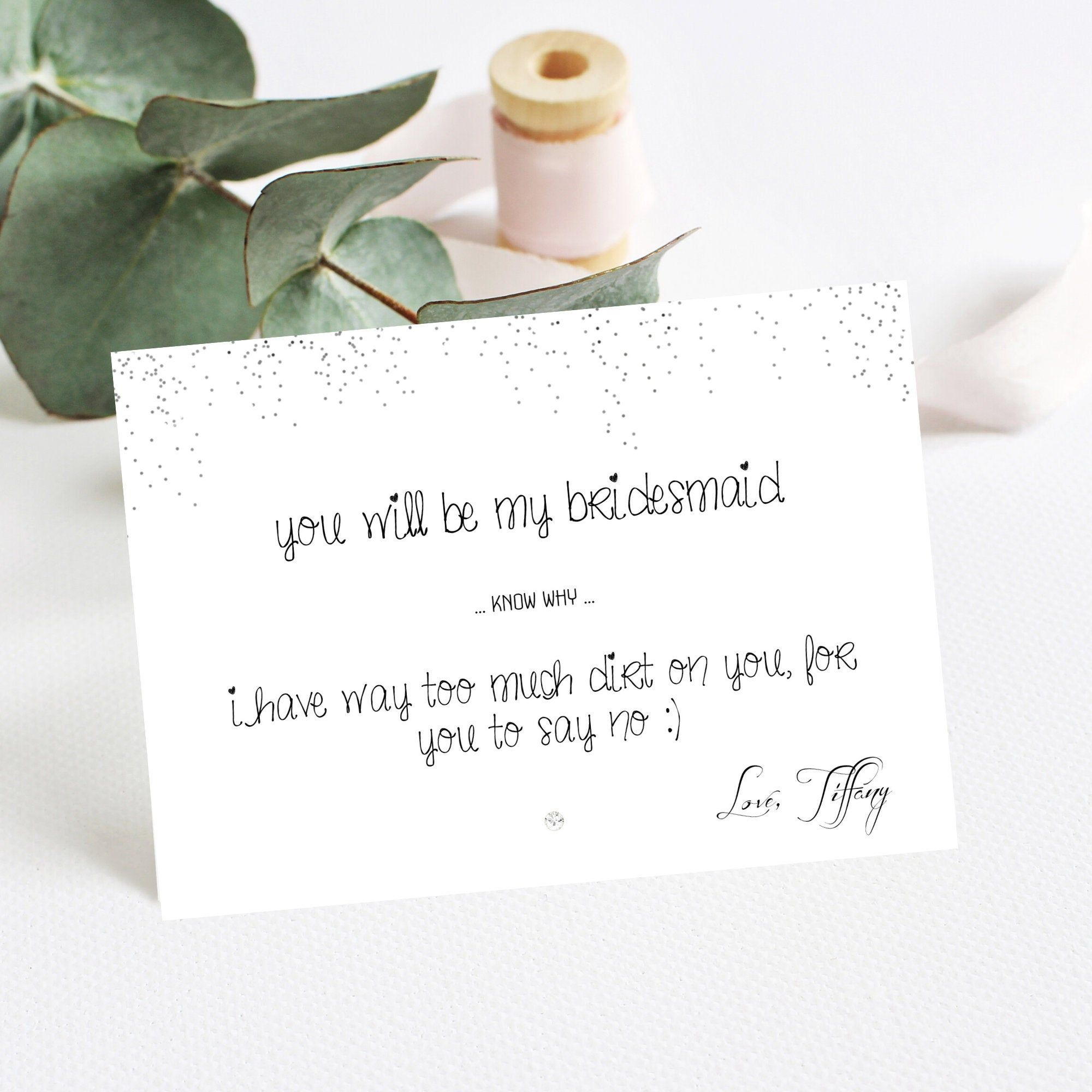 Funny bridesmaid card will you be my bridesmaid instant