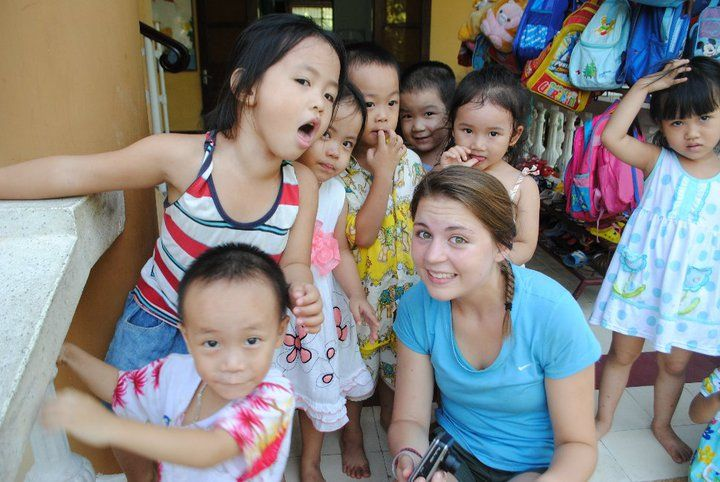 Check out this throw back of program leader Abbie in Vietnam when she was a Challenger, here she is working at a school in Hue!