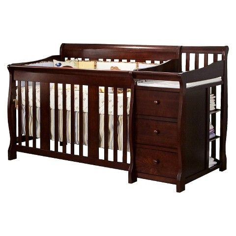Storkcraft Portofino 4 In 1 Convertible Crib And Changer Espresso Convertible Crib Cribs Baby Toddler Bed