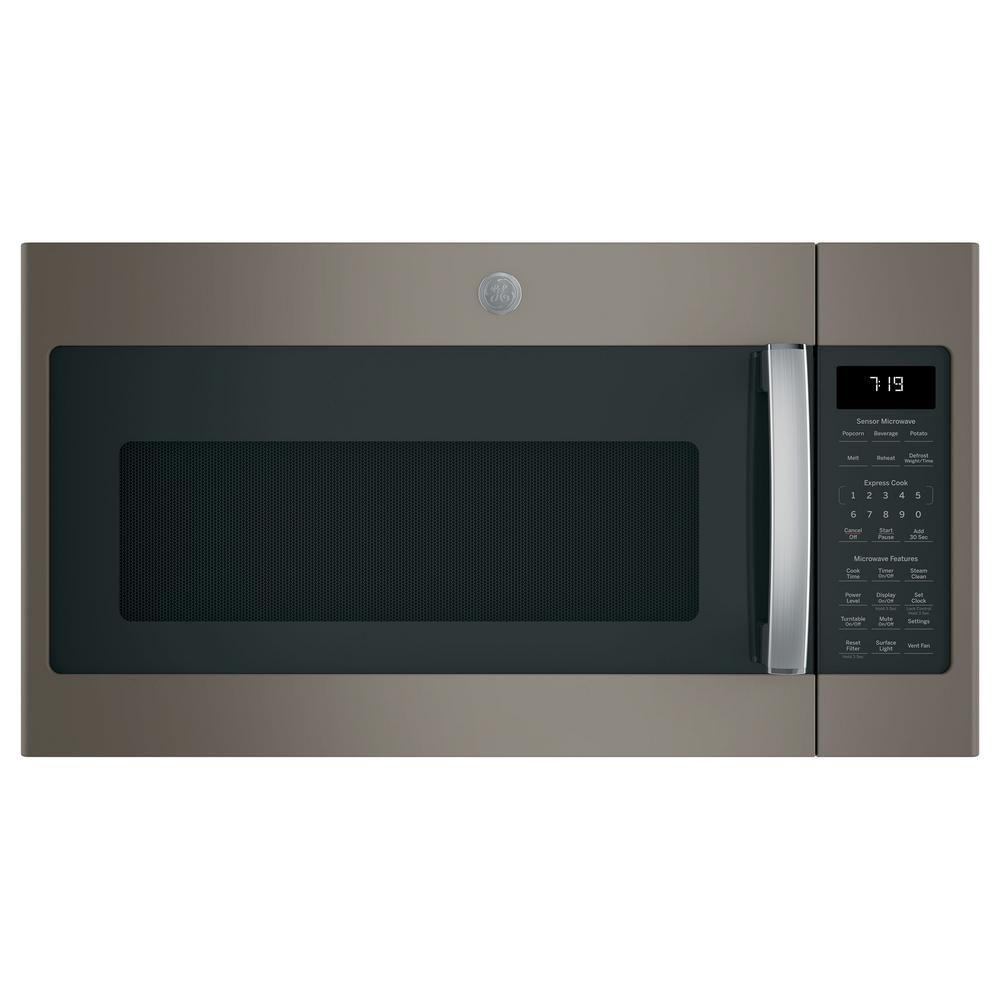 Ge 1 9 Cu Ft Over The Range Microwave In Black Stainless Steel With Sensor Cooking Fingerprint Resistant Over The Range Microwaves Range Microwave Microwave
