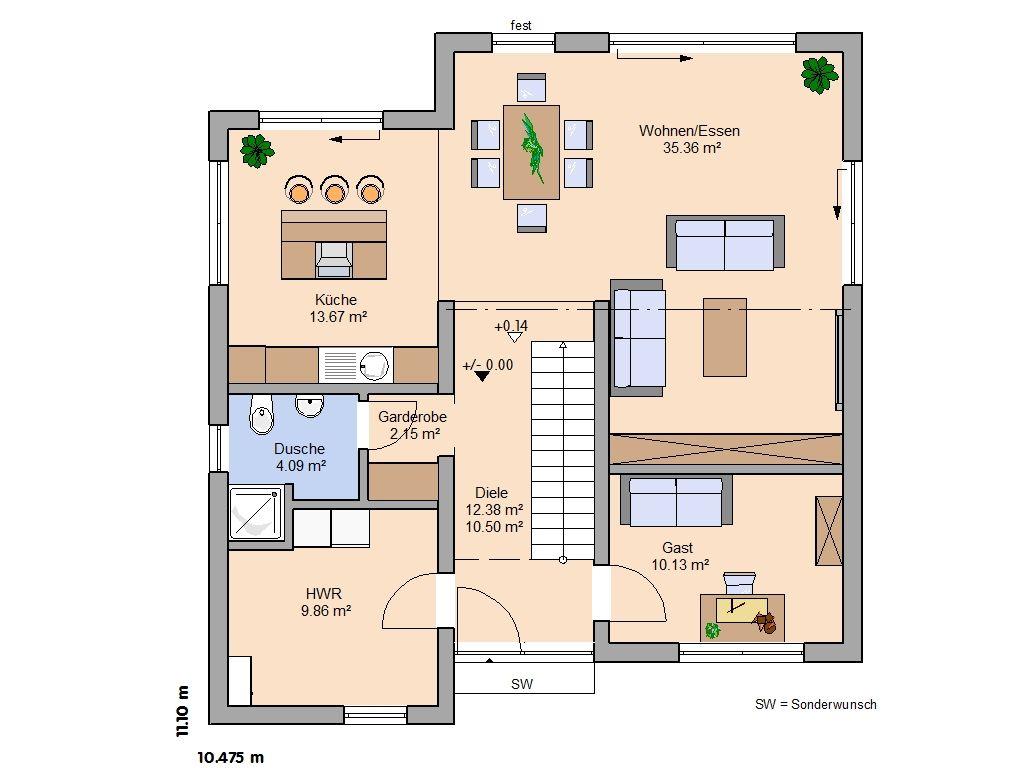 Moderne Hauser Mit Grundriss Ev Planlari In 2019 Haus