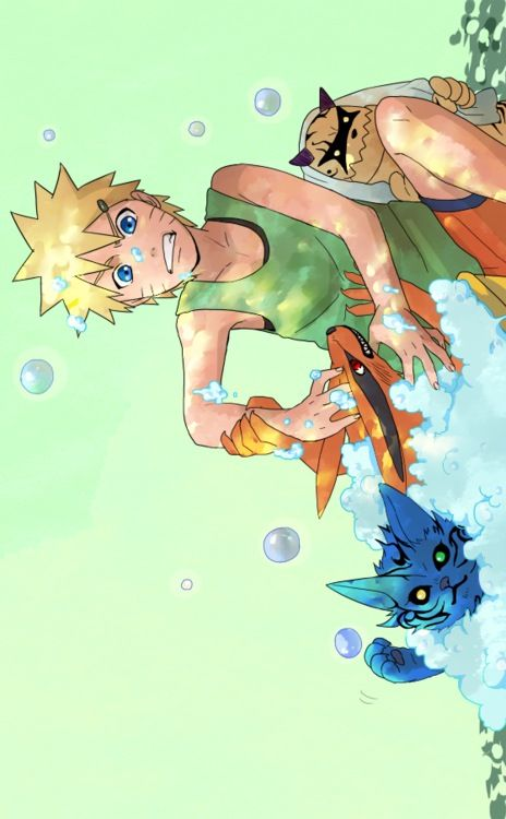 Naruto... That so adorable!! But seems like a hell to clean them all up...