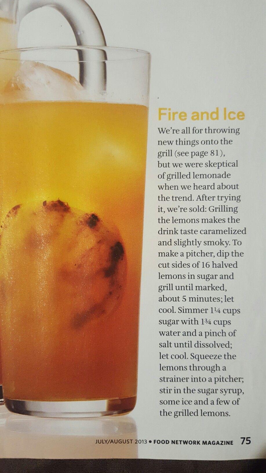 Grilled lemonade