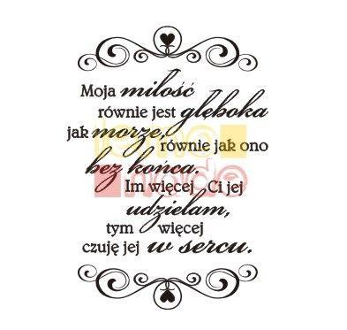 Cytat Szekspir Moja Miłość Stemple Akrylowe Lemonade