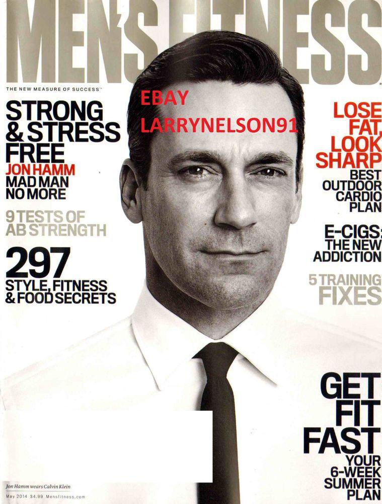 Men\'s fitness magazine may 2014 jon hamm mad men e-cigs cardio plan ...