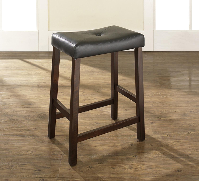 Charming Black Leather Saddle Sareat Bar Stool With 24 Inch Seat Height Design Saddle Seat Bar Stool Bar Stools 24 Bar Stools