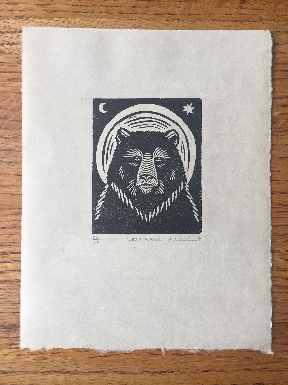 Ursa Major Linocut Print | Etsy