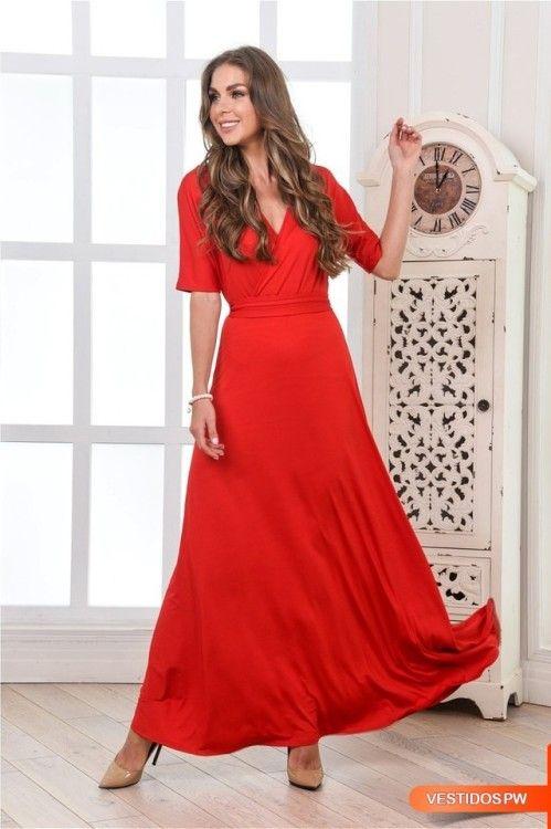 Vestidos rojos elegantes noche