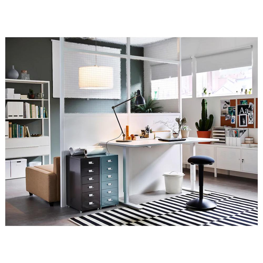 SKARSTA Desk sit/stand white IKEA Desk