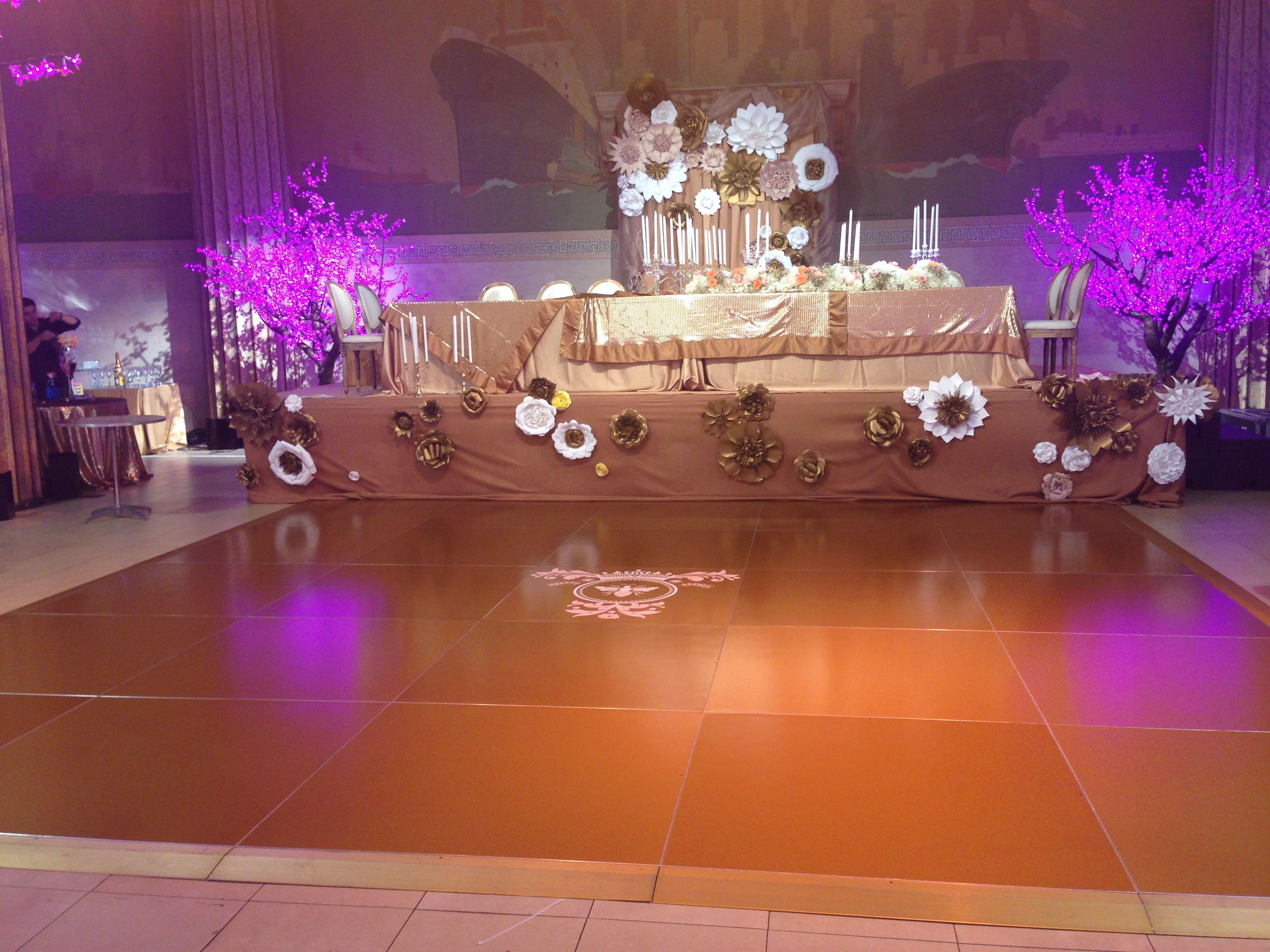 Gold Dance Floor CELEBRATIONS w david Tutera Lil Kim s Baby