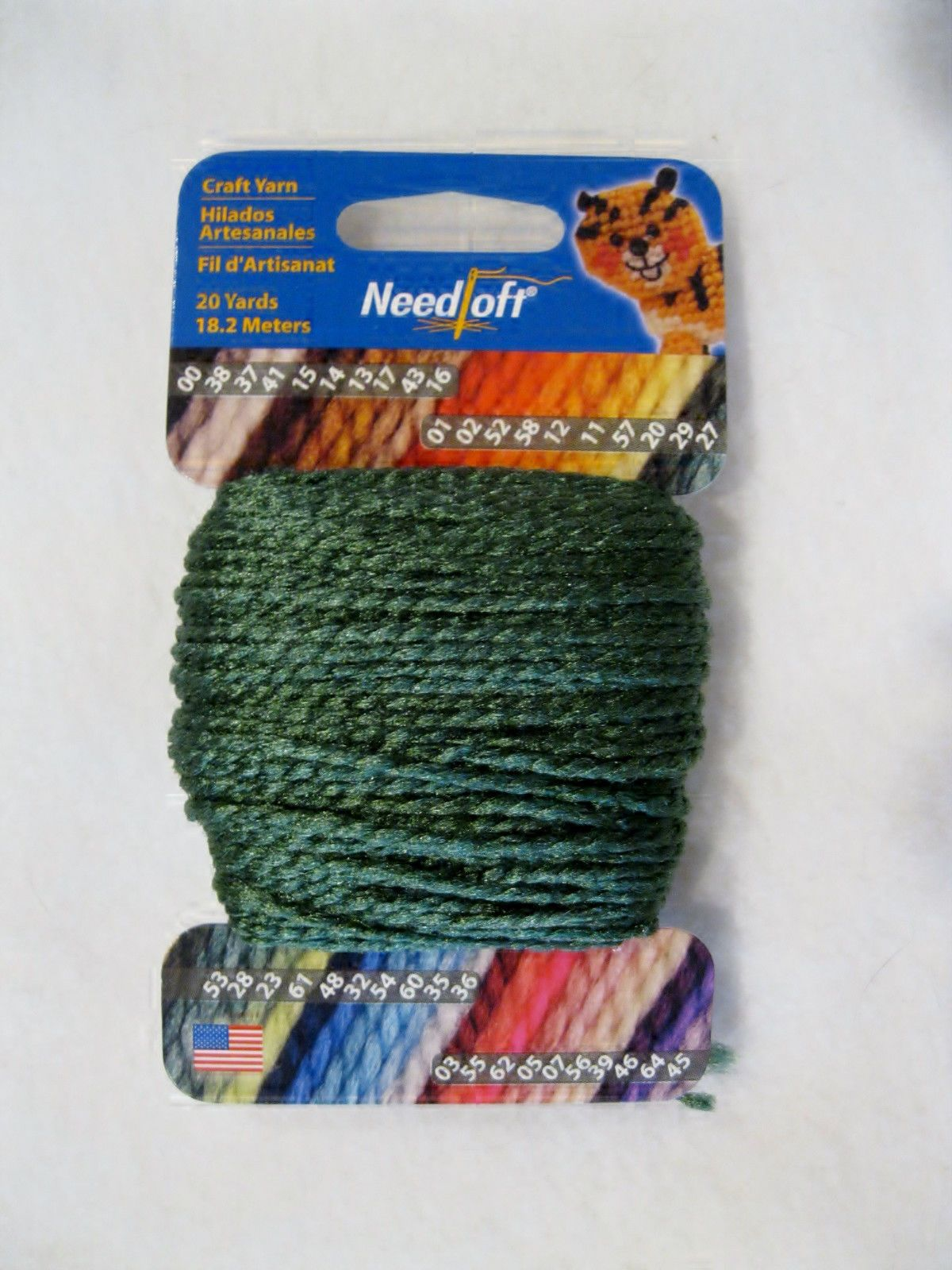 NEEDLOFT CRAFT YARN FOREST GREEN #29 for PLASTIC CANVAS by COTTAGE MILLS