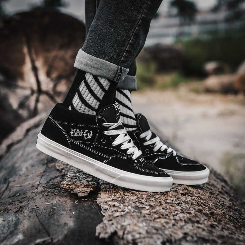 c26ef8ba7f18d VANS Half Cab Skateboard Shoes Black & White Classic Memorial Shoes Harvard  ZD-11 36 36.5 37 38 38.5 39 40 40.5 41 42 42.5 43 4416 #Vans