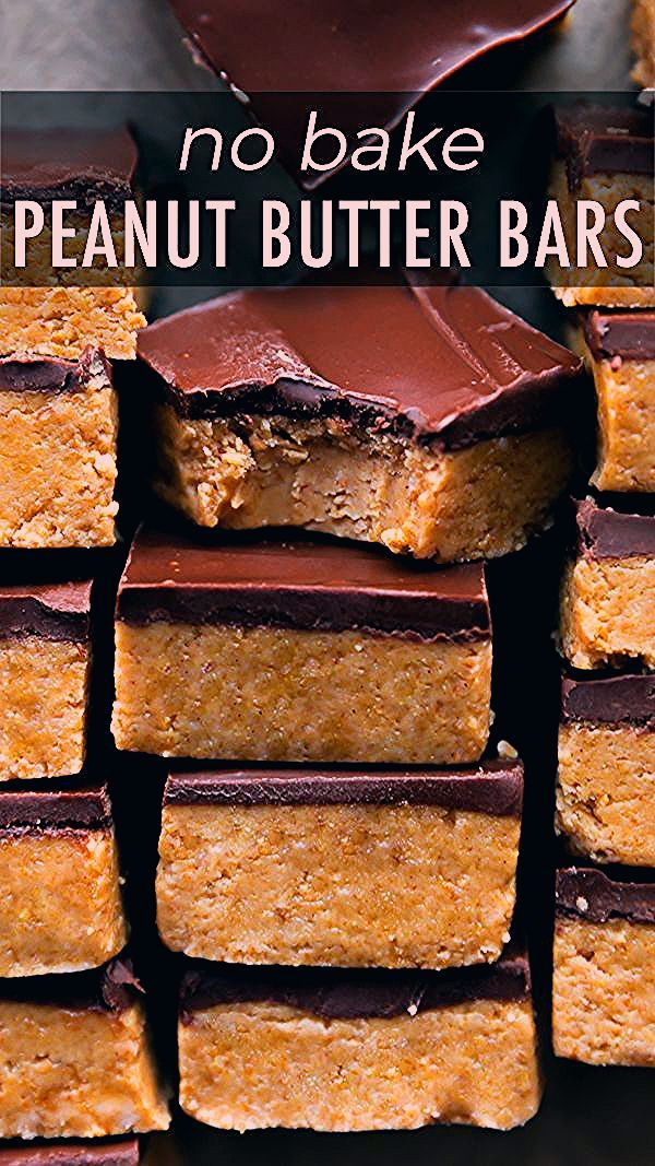 Photo of No-Bake Chocolate Peanut Butter Bars   Sally's Baking Addiction